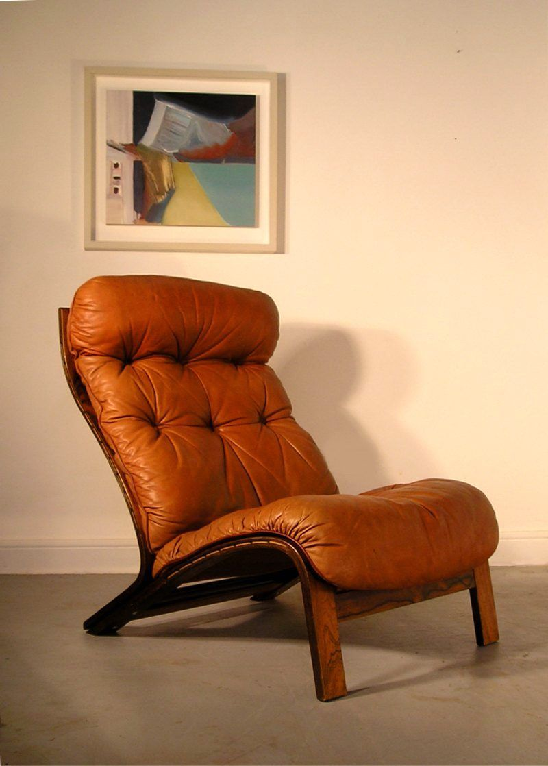 Oddvin Rykken Rosewood And Leather Lounge Chair For Rybo