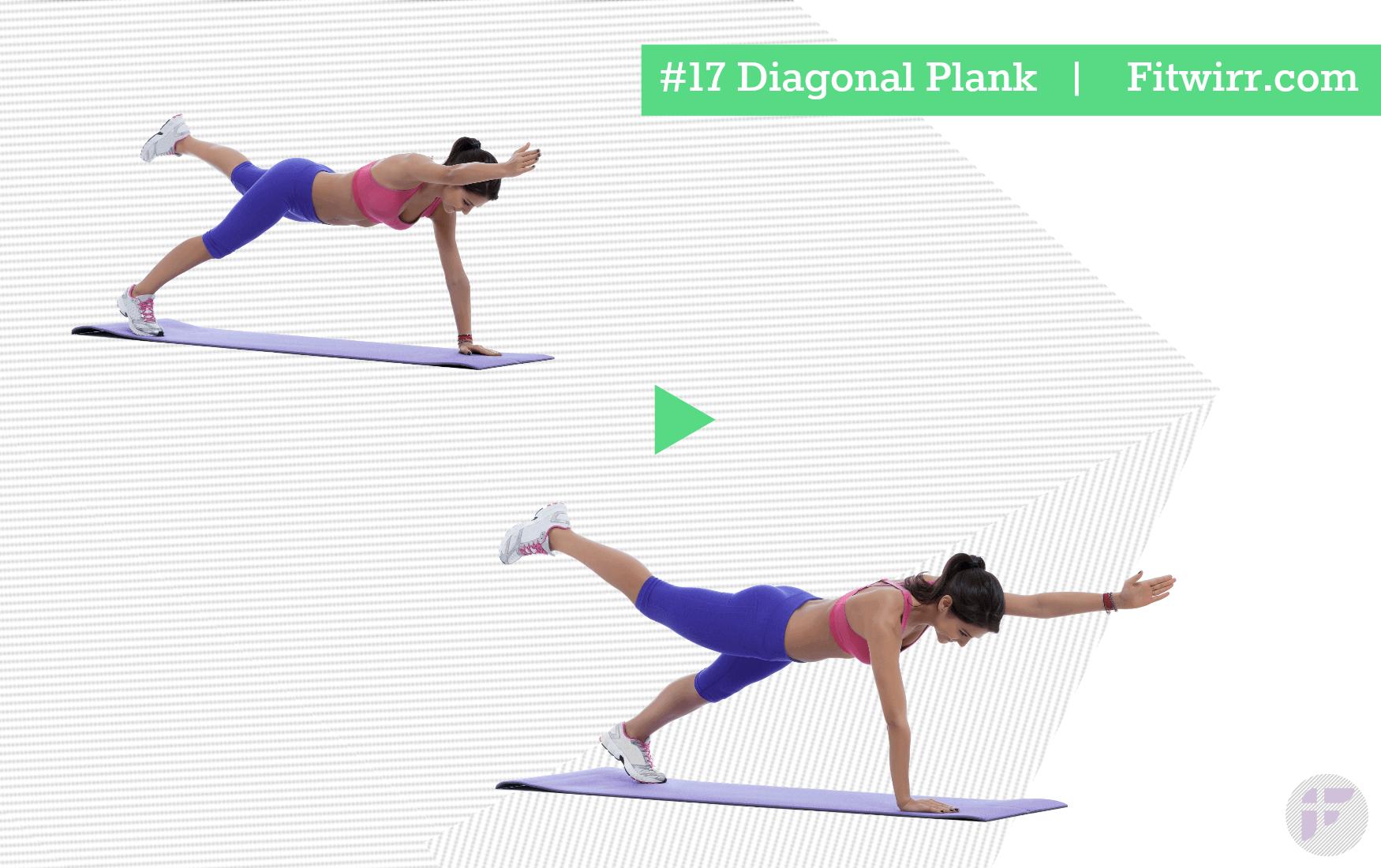 Image result for Diagonal Plank
