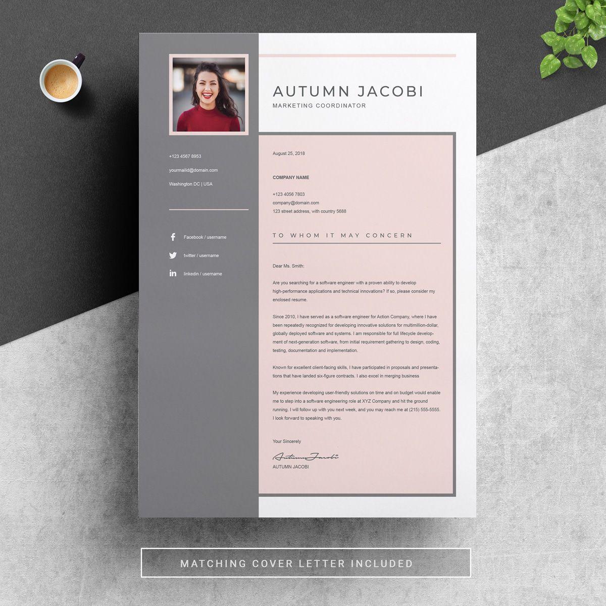 Autumn Resume Template 75649 Resume examples, Resume