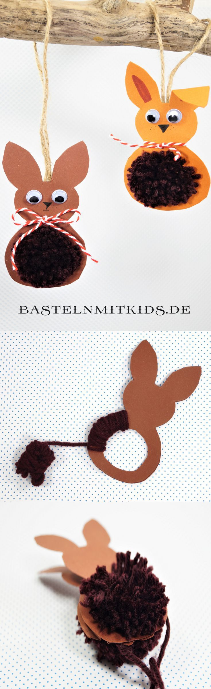 osterhasen basteln mit kindern und kleinkindern basteln mit kindern basteln osternest. Black Bedroom Furniture Sets. Home Design Ideas