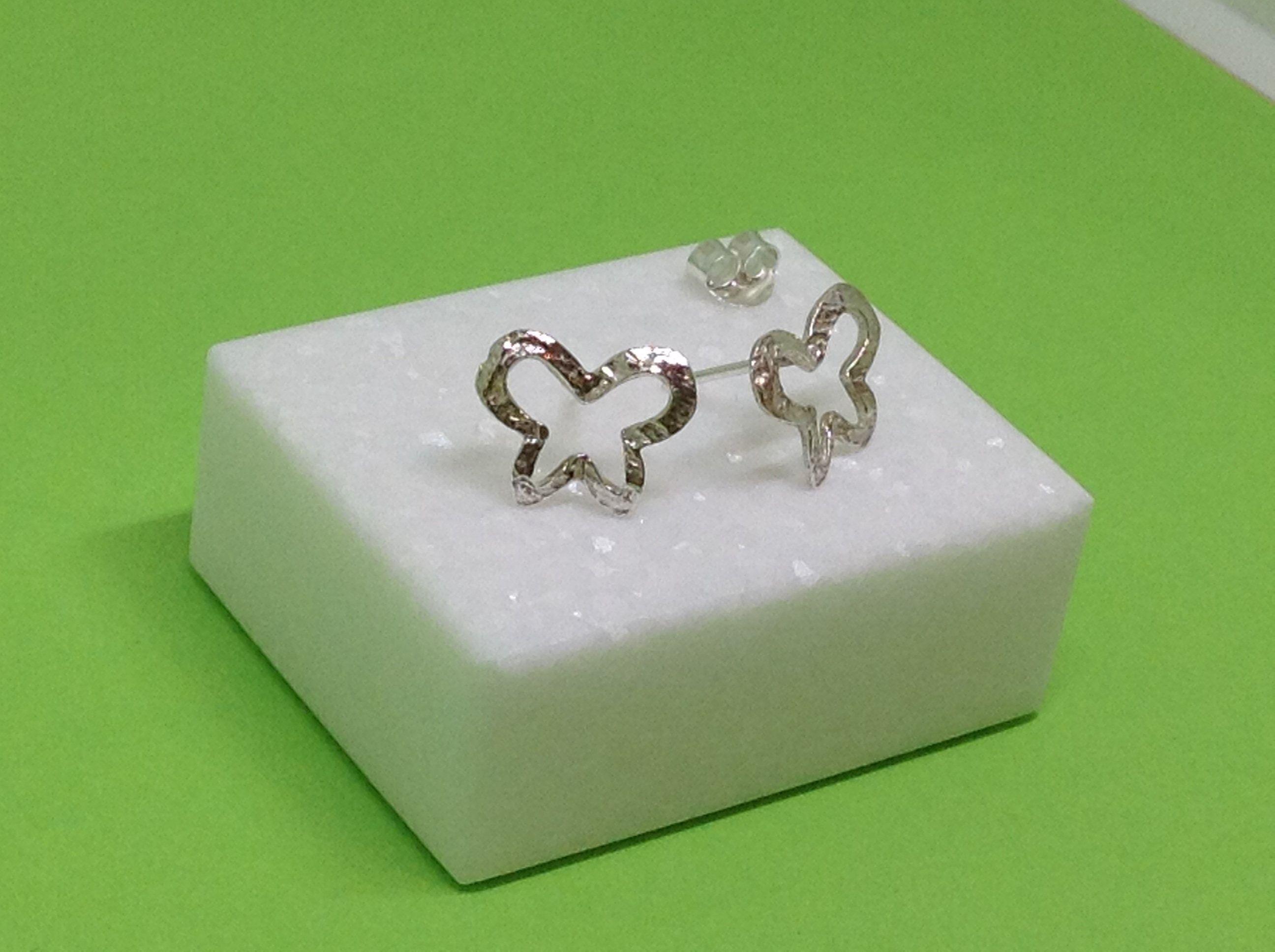 Butterfly Stud Earrings Tiny Butterfly Sterling Silver Stud Earrings Gift