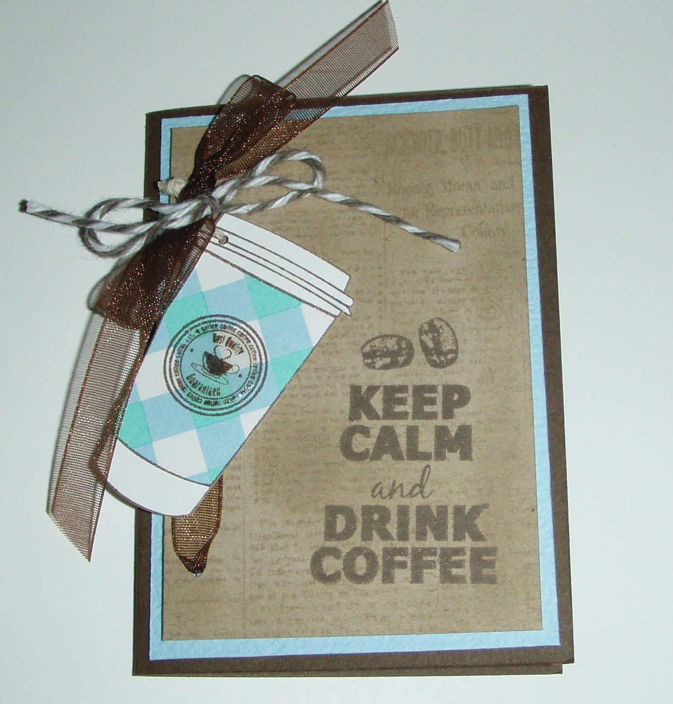 This little ATC card was made with the Enjoy Coffee Set... Isn't it cute!