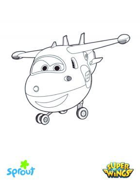 Super Wings - Jett – Super Wings Coloring Pages for Kids | Sprout ...