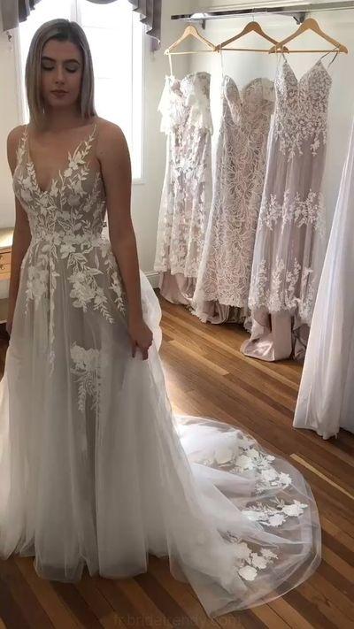 Silver Bohemian Lace Wedding Dress  from Sancta Sophia