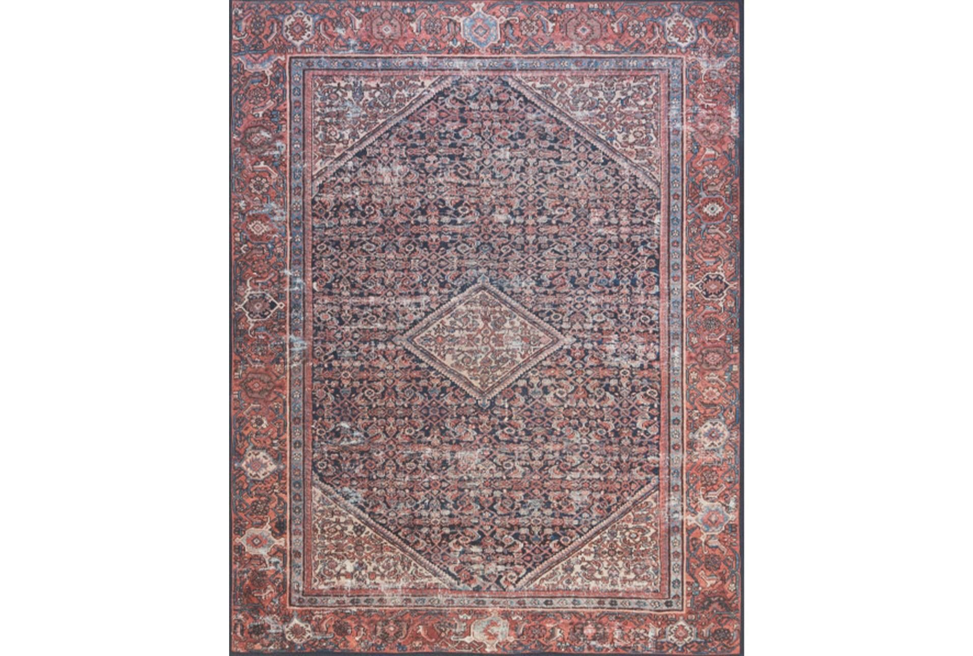 60x90 Rug Magnolia Home Lucca Terracotta Ivory By Joanna