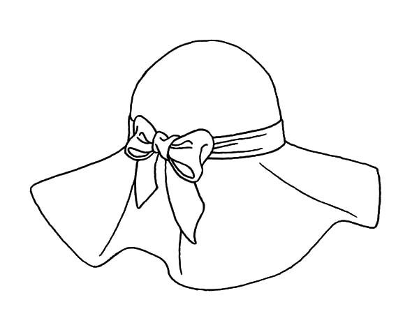 Hat Outlines For 500 Hats Hat Hat Tied With Bow Coloring Pages