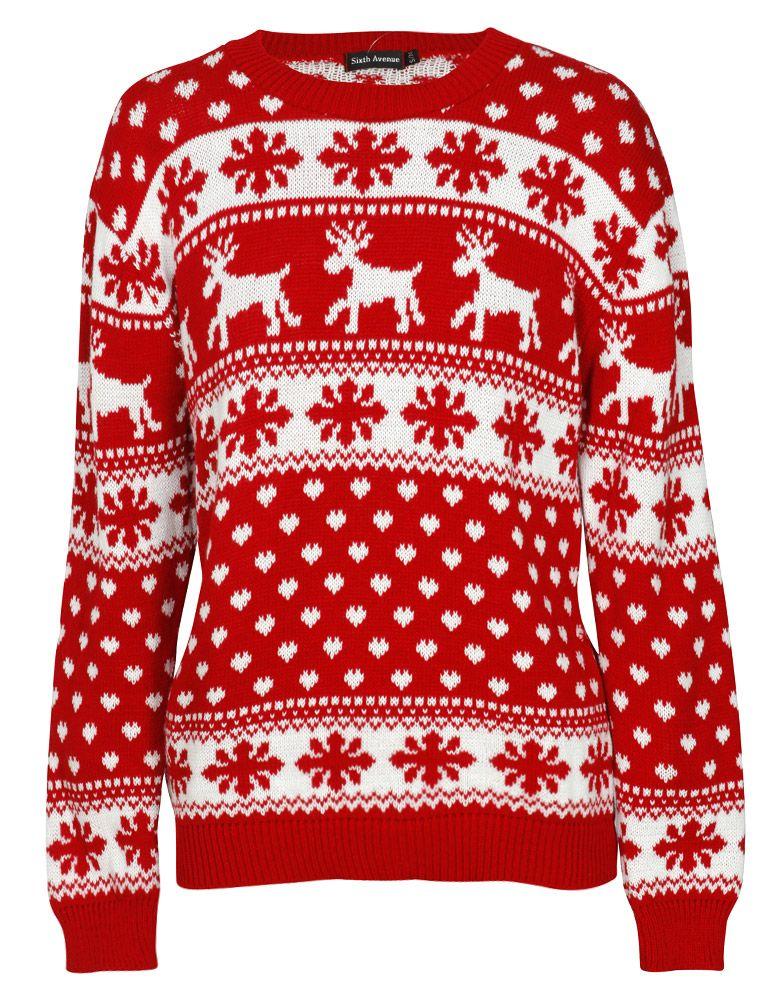 Reindeer and Fairisle Print Christmas Jumper in Red £ 14.95 ...