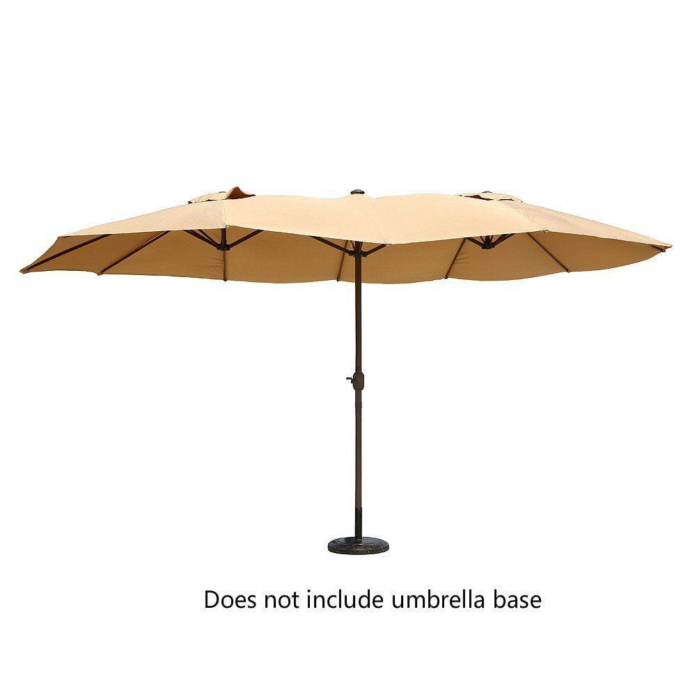 Amazon.com : Le Papillon 14 Ft Outdoor Umbrella Double Sided Aluminum  Market Patio