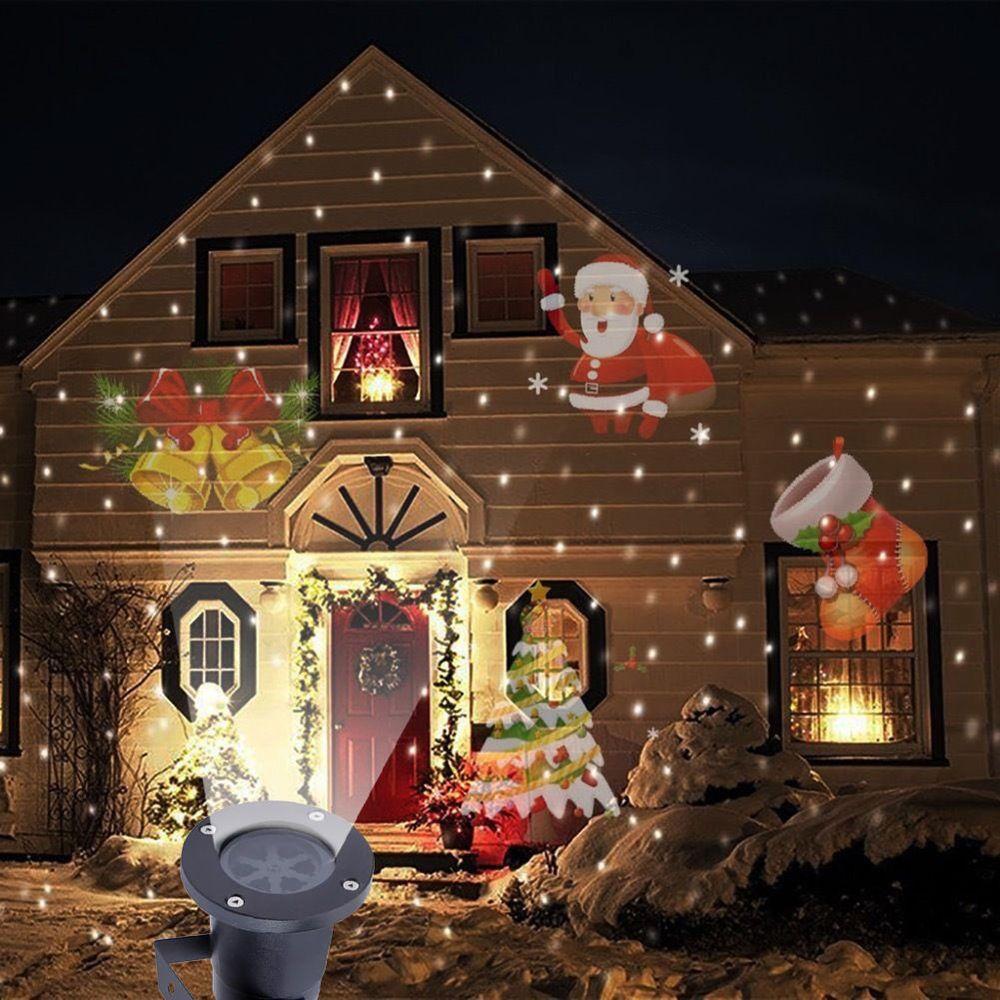 christmas led lights moving laser projector landscape santa pattern lamp outdoor