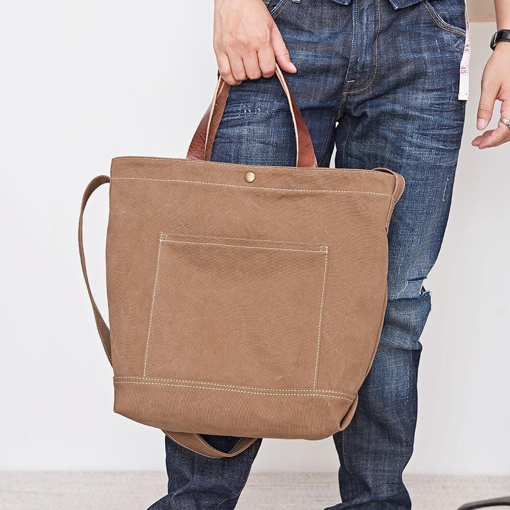 Canvas Tote Bag Vintage Crossbody Bag Chic Shoulder Bag Handmade