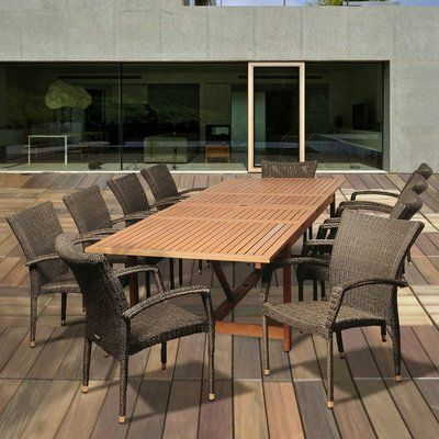 Sol 72 Outdoor Davina 11 Piece Dining Set In 2020 Outdoor Furniture Sets Patio Dining Set