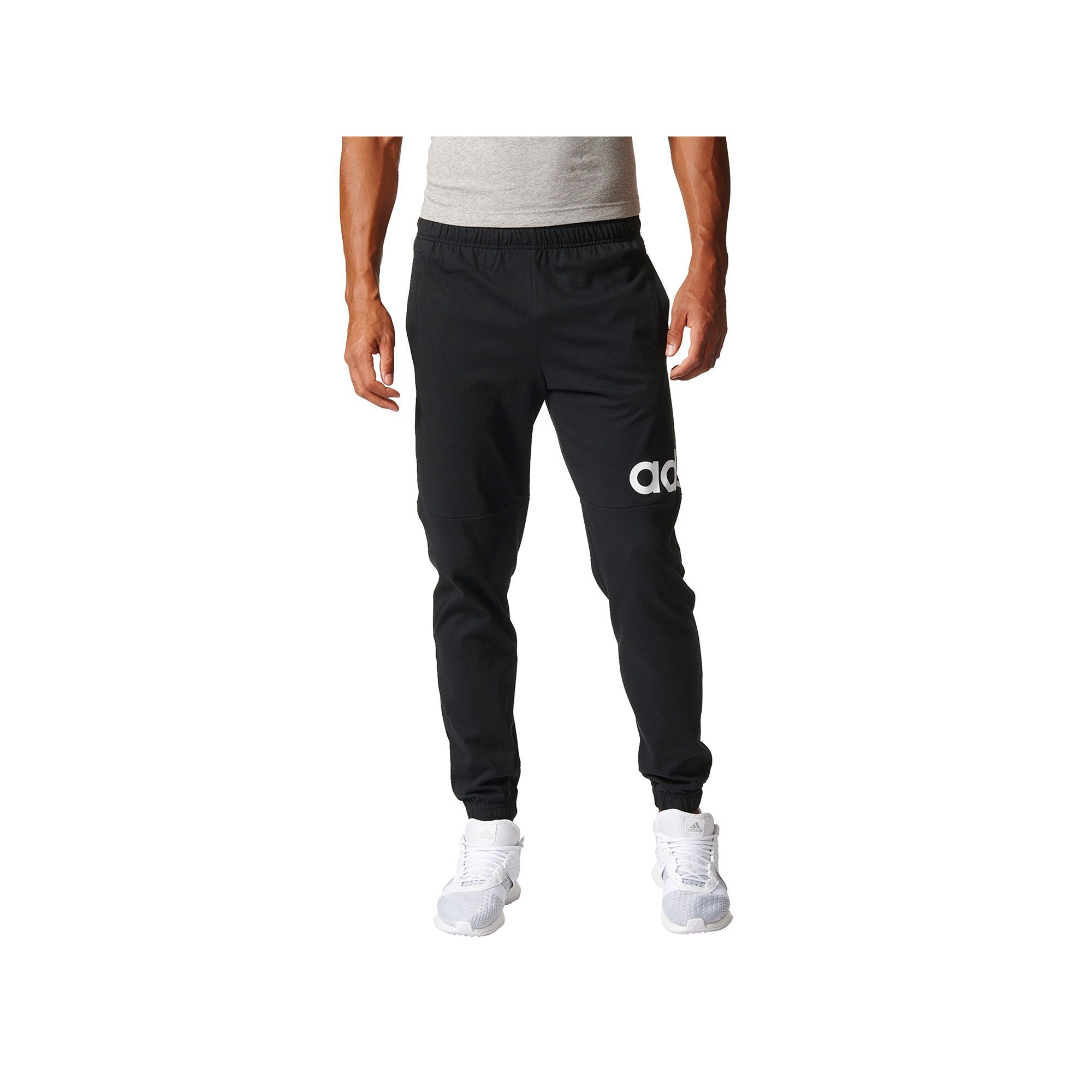 d155cf1f7 Men's Adidas Essential Logo Jersey Pants, Size: Medium, Black ...