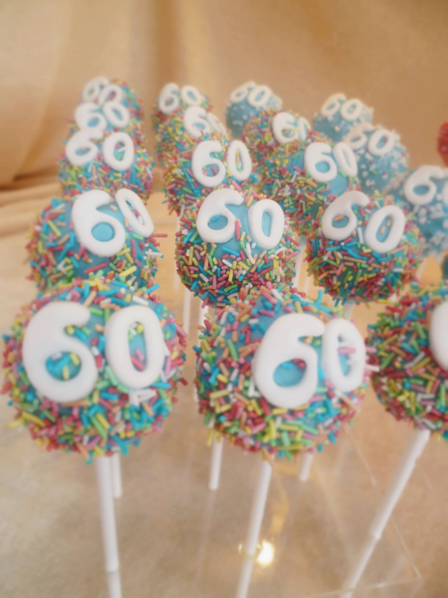 60th Birthday Cake Pops Make That A Bit More Special Check Out At Thecakeshakcouk
