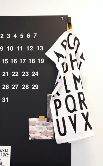 Via Sisustuksen | Black and White | Design Letters
