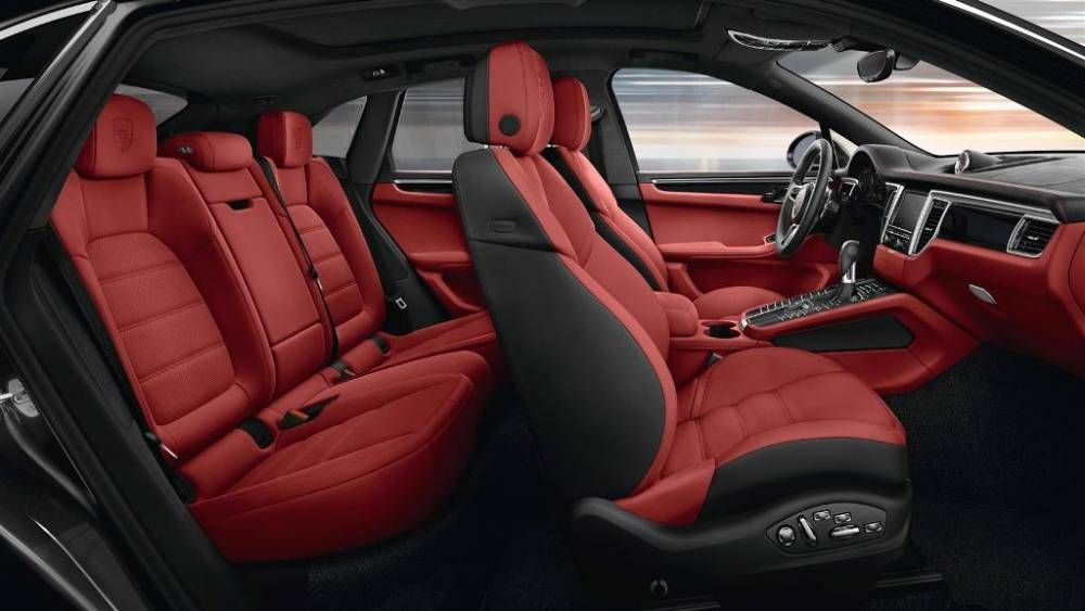 2017 Porsche Macan Interior Fornt And Rear Leather Seats 1000x563