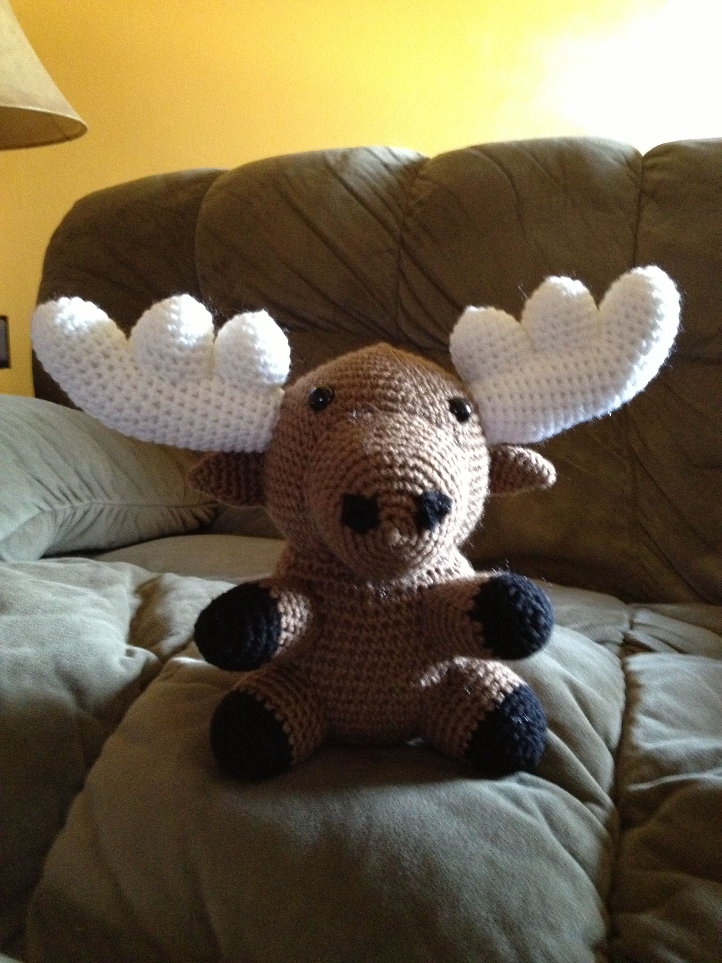 Crocheted Moose Crocheted From Crocheted Softies By Stacey Trock