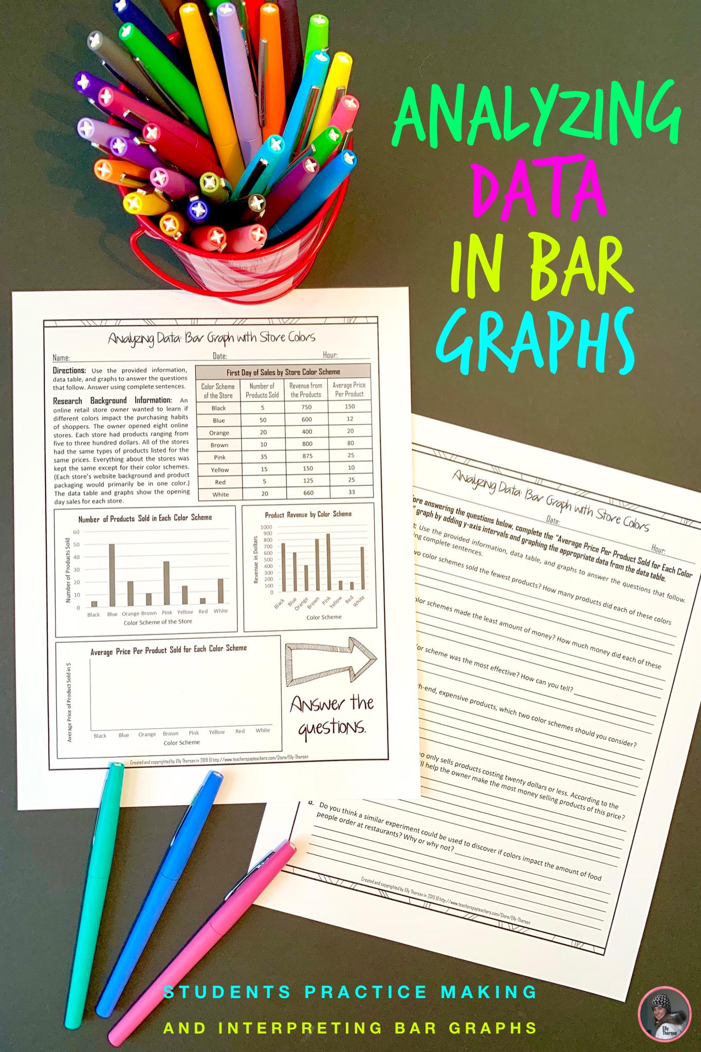 Interpreting Bar Graphs Analyzing Bar Graphs In Middle School Bar Graphs Middle School Science Resources Graphing Worksheets [ 2048 x 1364 Pixel ]