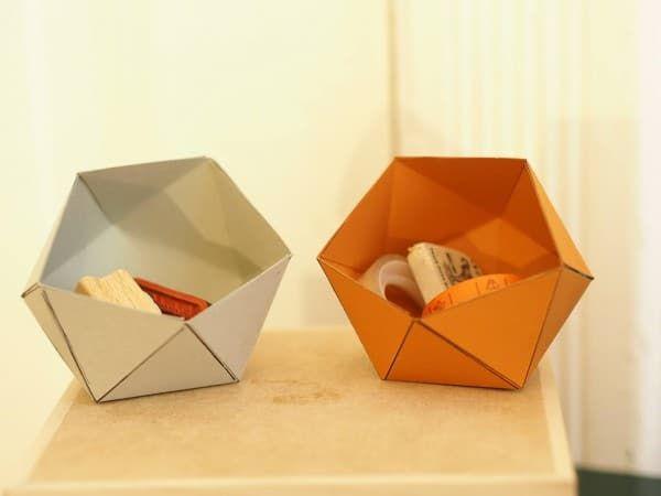 Papierschachteln Papierschachtel Falten Büroklammern Diy
