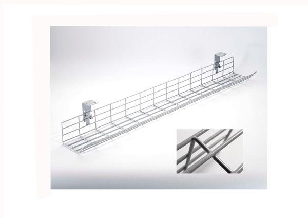 1 6m Poly Coated Desk Cable Basket Pccb16 39 52 Management
