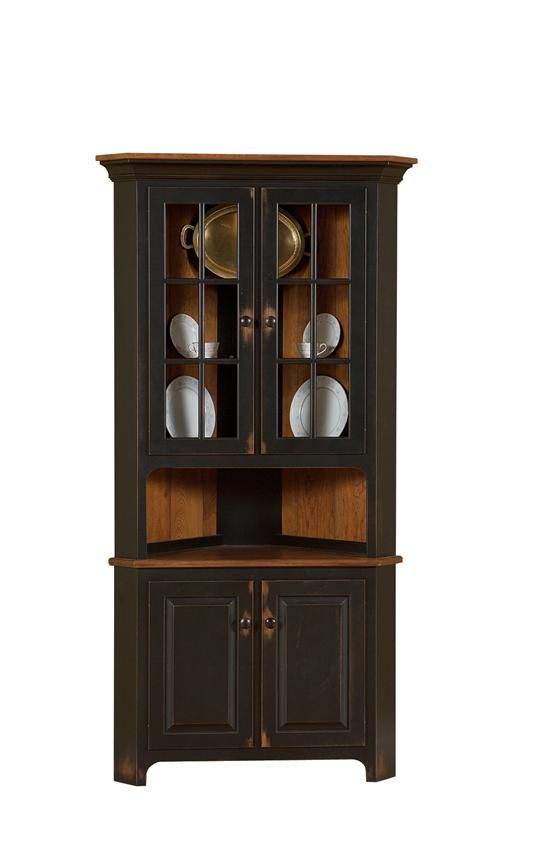 Amish Plymouth Corner Hutch | Dining room corner, Corner hutch and ...