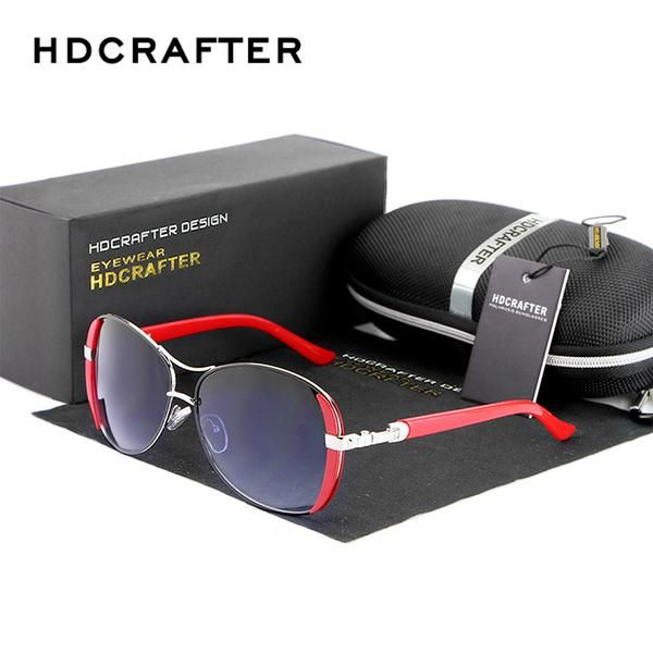 57cc00c14d FuzWeb:HDCRAFTER Luxury brand Women Sunglasses New elegant glasses anteojos  de sol mujer Sunglasses for Female oculos de sol