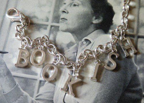 Bookish Silver Letter Charm Bracelet