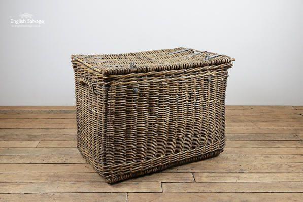 Large Vintage Wicker Laundry Basket In 2019 Kitchenalia