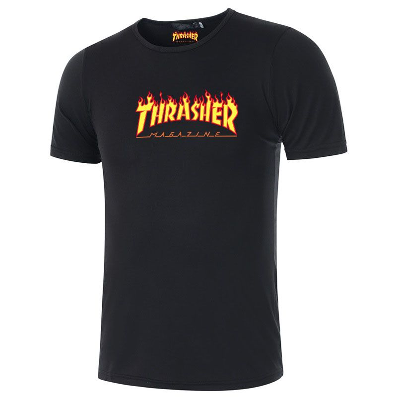 2016 thrasher t shirts men Skateboards hip hop street fashion Cotton summer Casual Black pink khaki streetwear trasher shirts