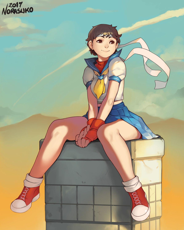 Sakura Kasugano from Street Fighter. Sakura won my last