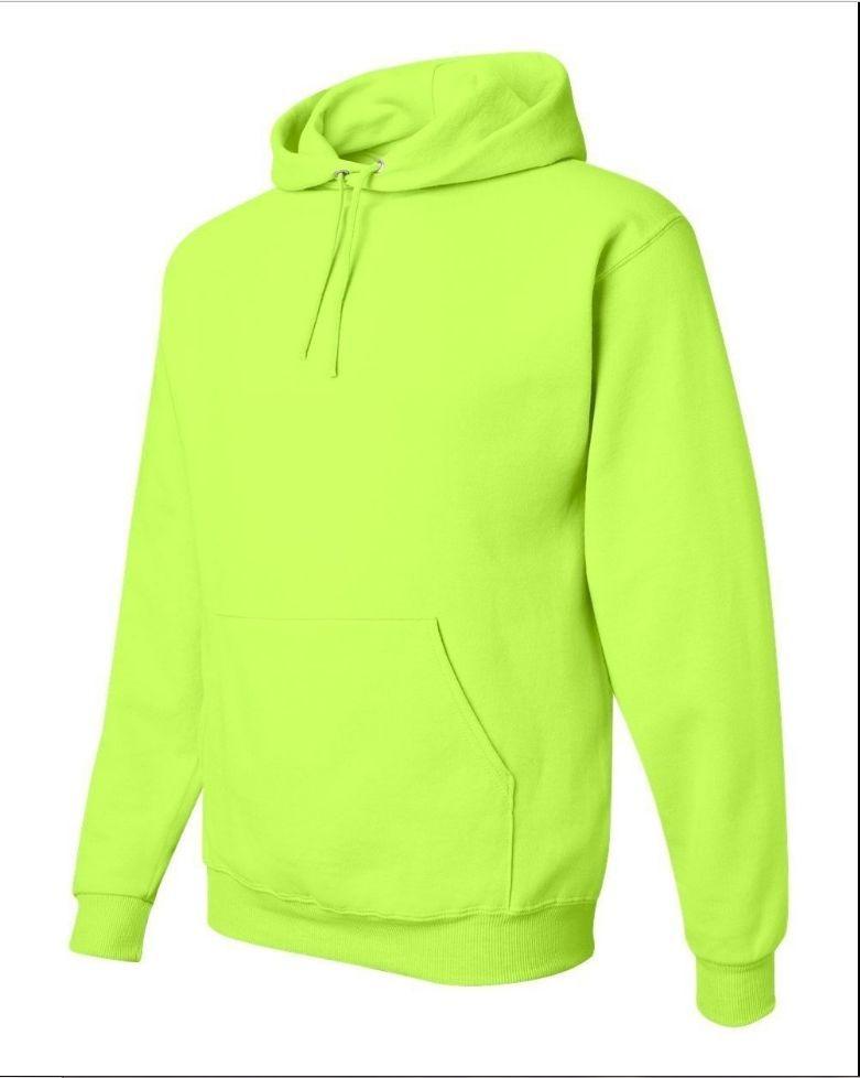 fa2c2a8d High Visibility Hooded Sweatshirt Class 3 Safety Hoodie -Hi Vis Viz Lime/  Orange
