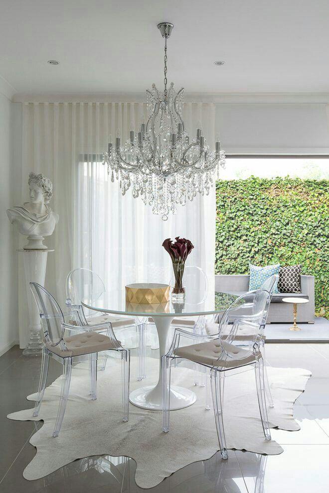 Ikea Esszimmer, Weiße Esszimmer, Speisezimmereinrichtung, Ghost Stühle In  Restaurants, Esstische, Ikea Ideen, Ikea Hacks, Arquitetura,  Hausdekorationen