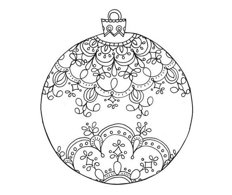 Weihnachtskugel Mandala Kostenlos Ausdrucken Christmas Diy