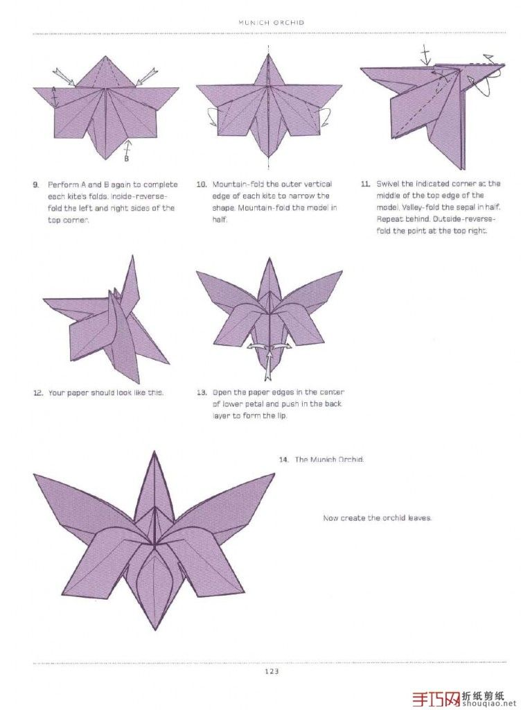 Detailed origami flower instructions origami pinterest - Origami lilie anleitung ...