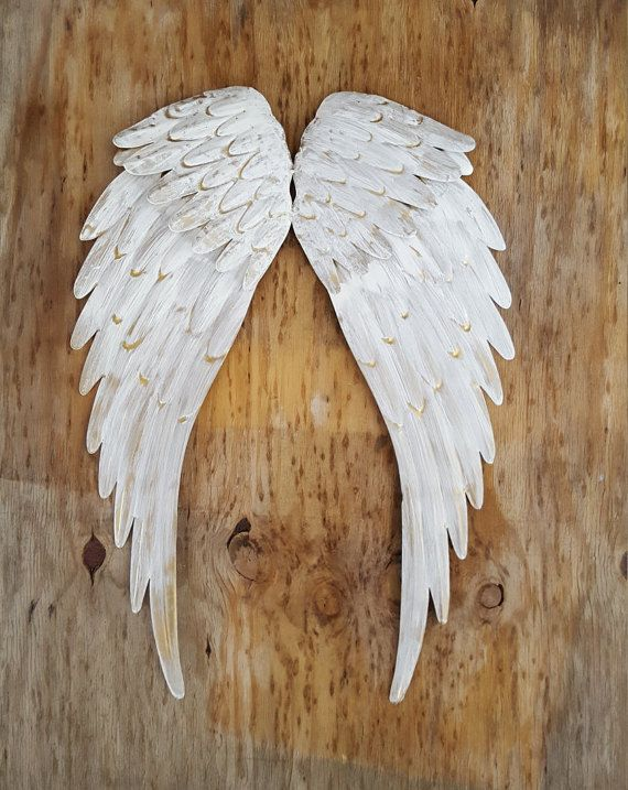 Metal Angel Wings Wall Decor Metal Cross Rustic By TreasuresAbout