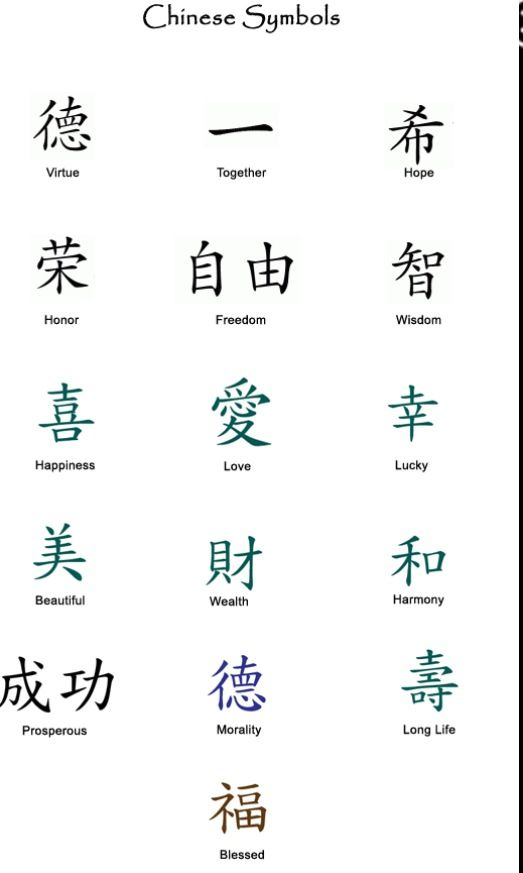 Chinese Symbols Art Worksheets Pinterest Tattoos Chinese