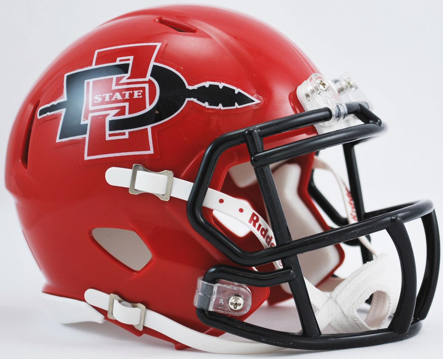 San Diego State Aztecs Ncaa Mini Speed Football Helmet Discontinued Football Helmets College Football Helmets Helmet