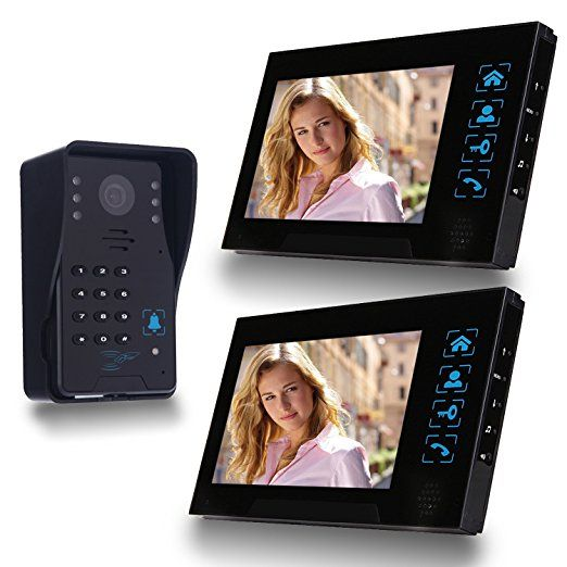 Wiredsimbr Video Doorbell 7 Inches Video Door Entry System With Key