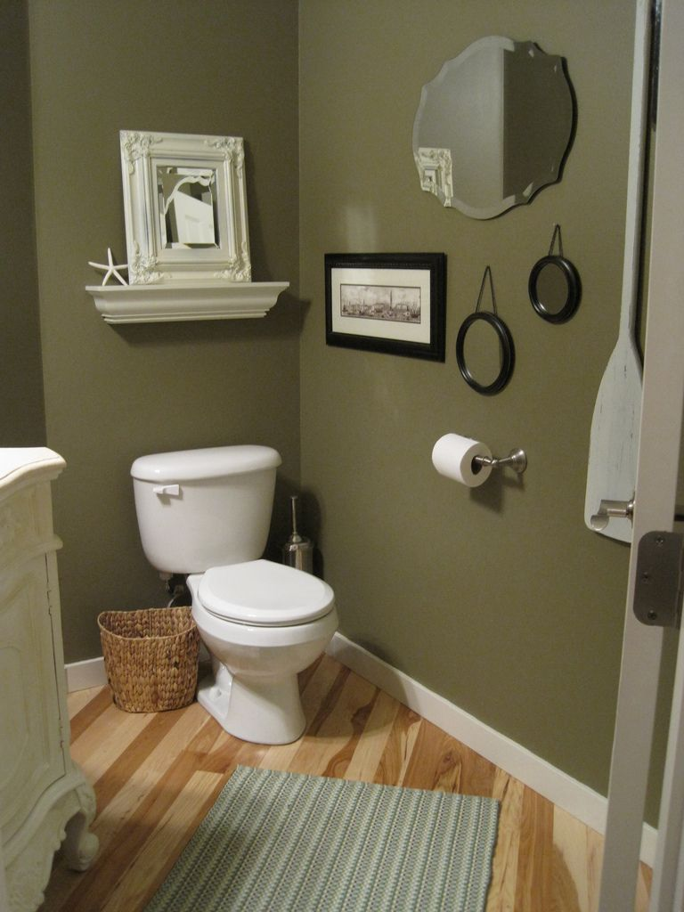 Olive green bathrooms on pinterest dark green bathrooms for Bathroom designs paint