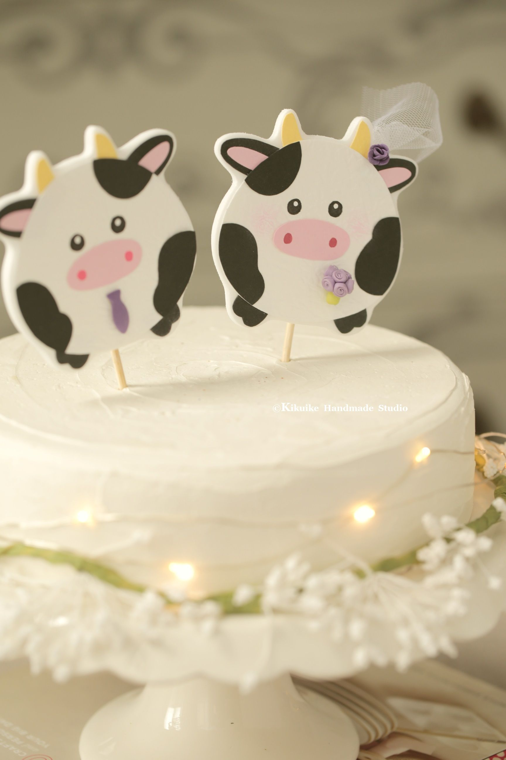 Cow Wedding Cake Toppercustom Cow Wedding Cake Toppercow Couple