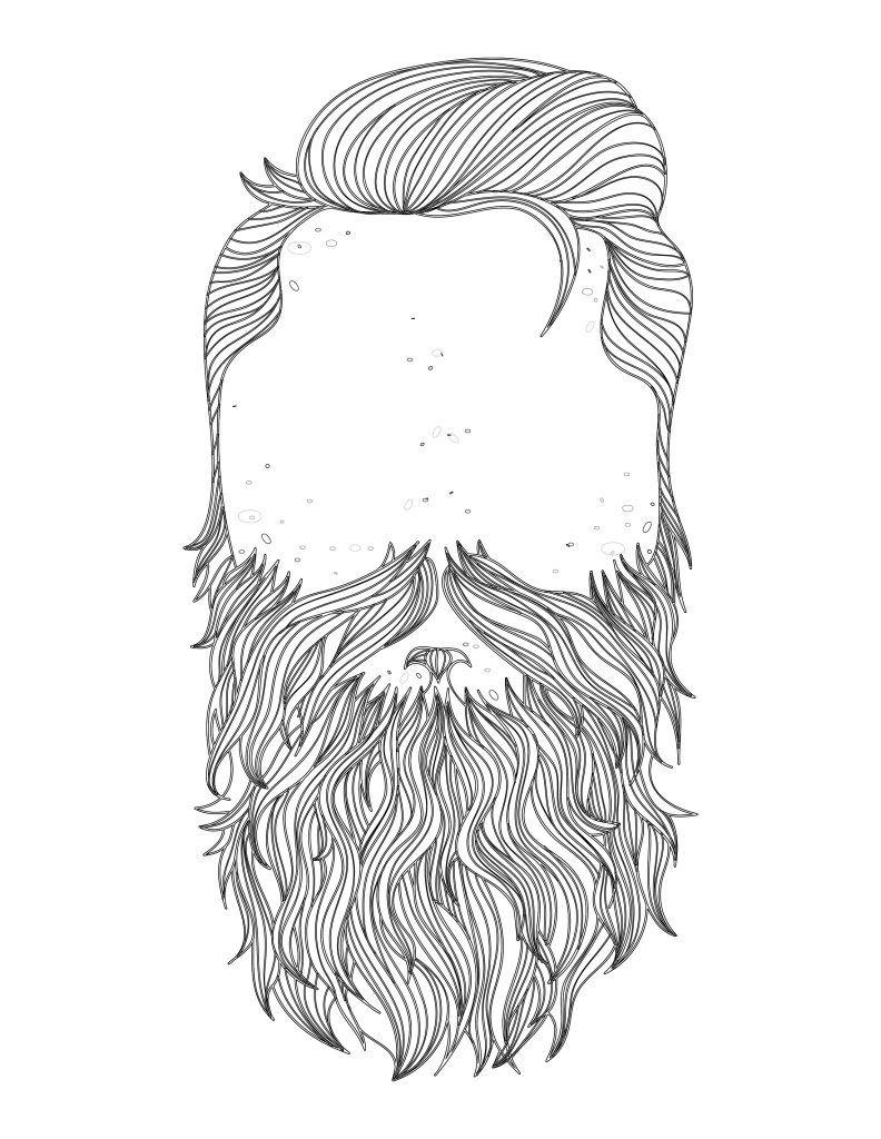 coloriage beard november prostate cancer   Prostate cancer and November