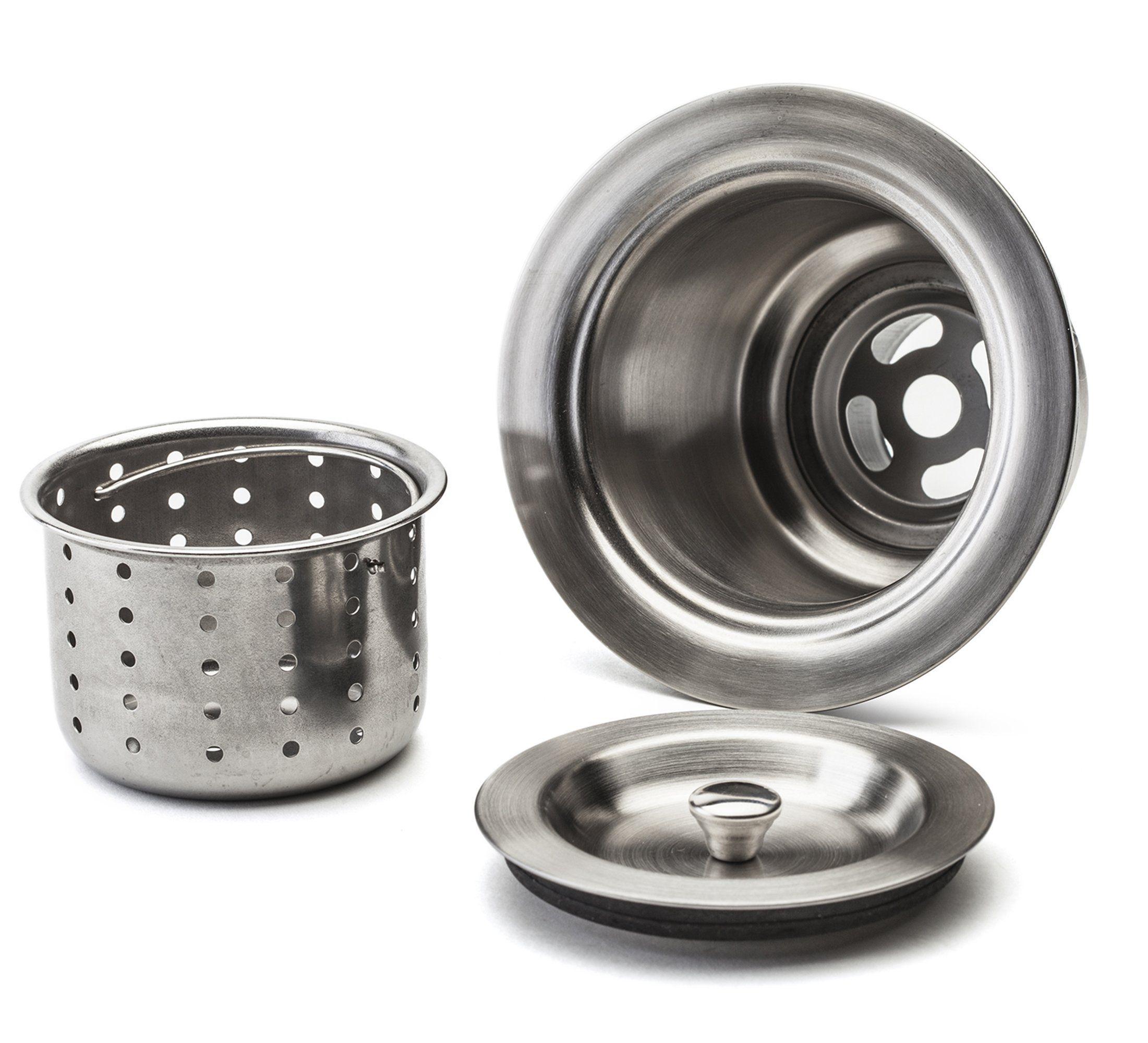 Kitchen Sink Drain Assembly Liquidation Cabinets Fluxe 3 5 Inch Stainless Steel Deep Waste Basket