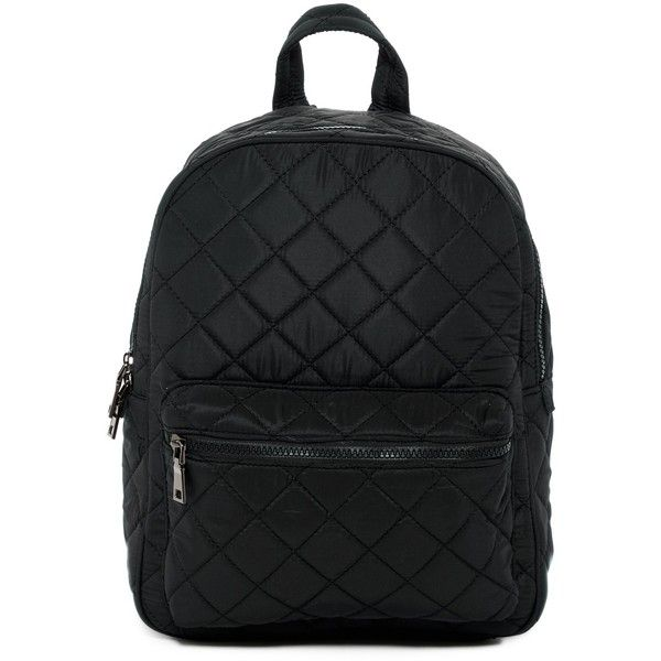 Urban Fit Quilted Nylon Backpack ($35) ❤ liked on Polyvore ... : black quilted rucksack - Adamdwight.com