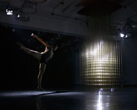 Interactive designers rAndom International have created a lighting installation that can map andreplicatehuman movement. Located at the MADE exhibition space in Berlin, theproject was presented as part of a dance performancecoordinatedbychoreographerWayne McGregor and composer Max Richter.
