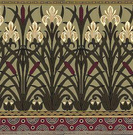 art nouveau papier peint illustration pinterest papier peint art nouveau et peindre. Black Bedroom Furniture Sets. Home Design Ideas
