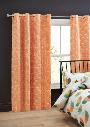 Buy Cotton Rich Retro Tulip Eyelet Curtains From The Next UK Online Shop