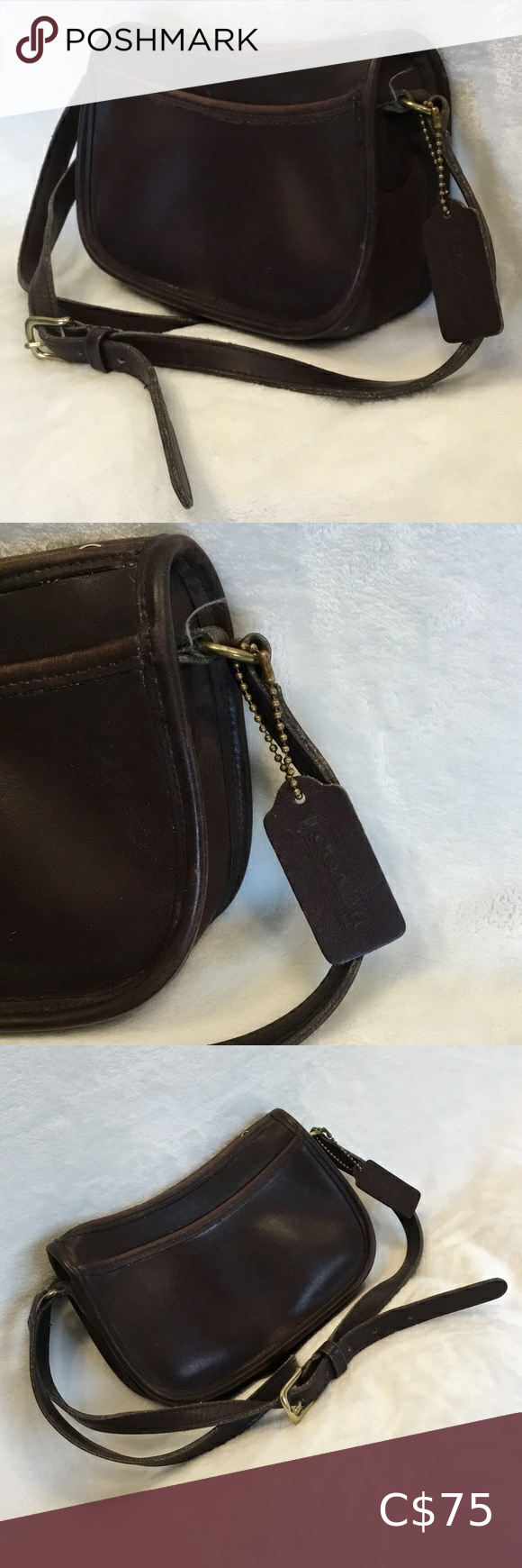 Coach genuine leather crossbody bag
