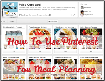 How To Plan Your Paleo Meals Using Pinterest Paleo Meal Plan Paleo Recipes How To Eat Paleo