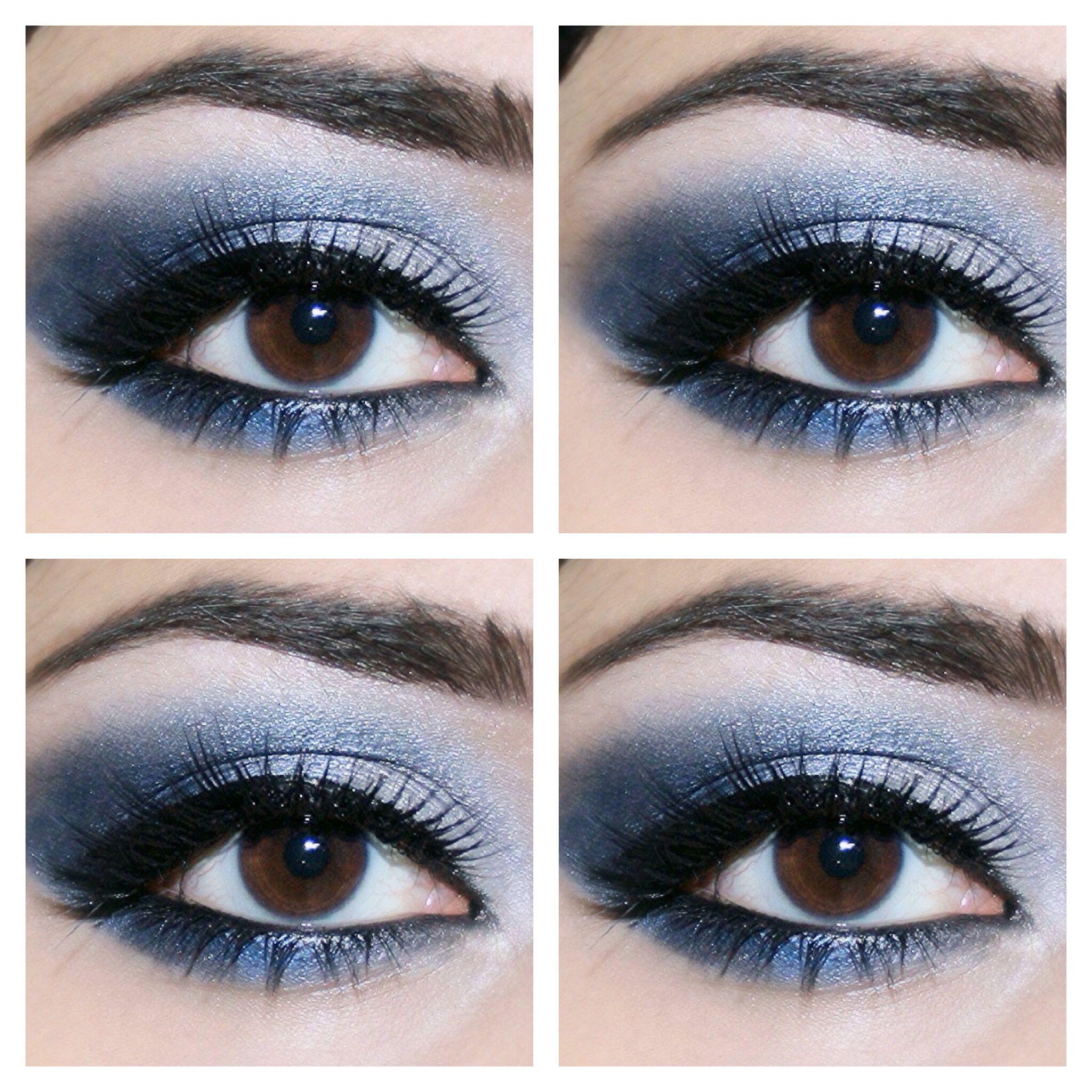 Simple blue smokey eye