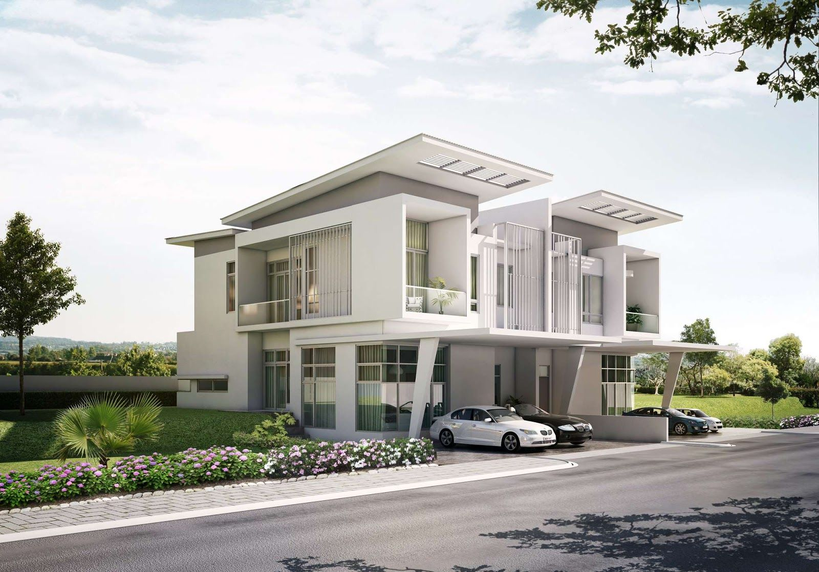 Modern Townhouse With Carport Google Search Space Likes Pinterest Modern Townhouse And