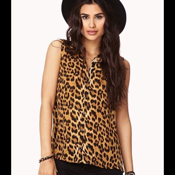 New Leopard Print Top Cute leopard top. Sizes available in XS, S, M Tops